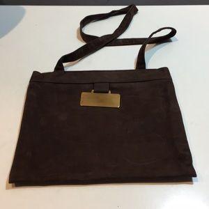 Vintage rare Reva brown slim shoulder bag